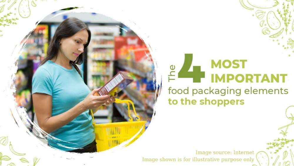 4 most important food packaging elements to the shoppers