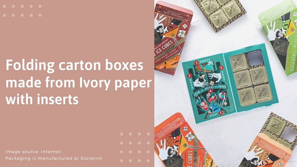 folding cartons from Ivory paper with inserts