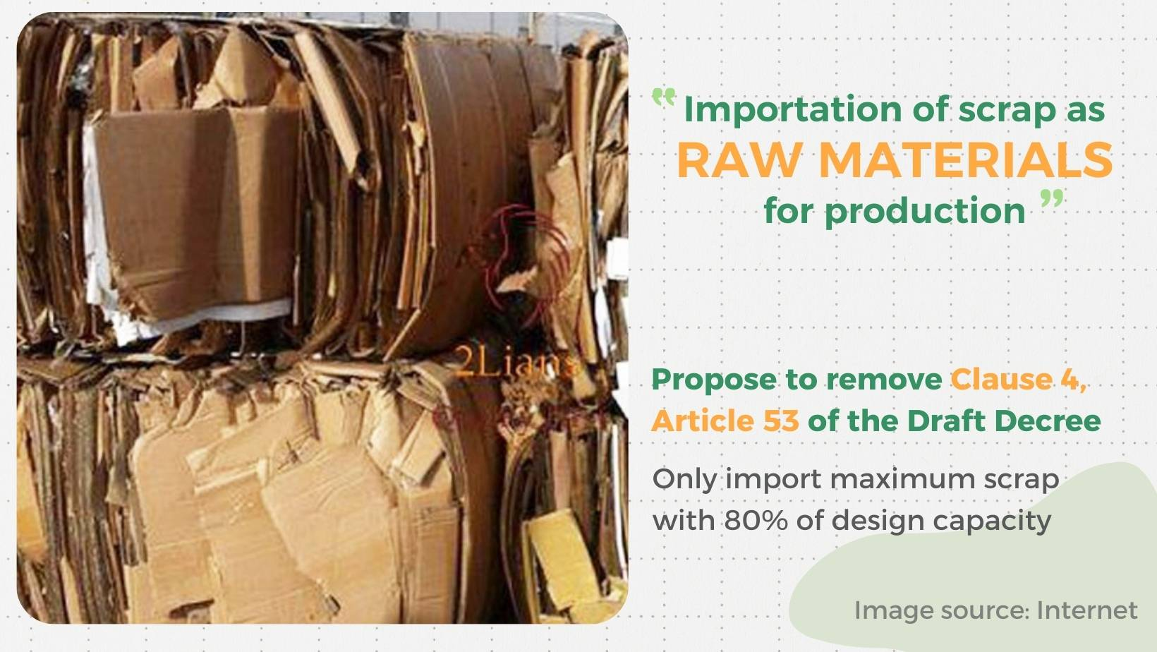 scrap importation as raw materials for production