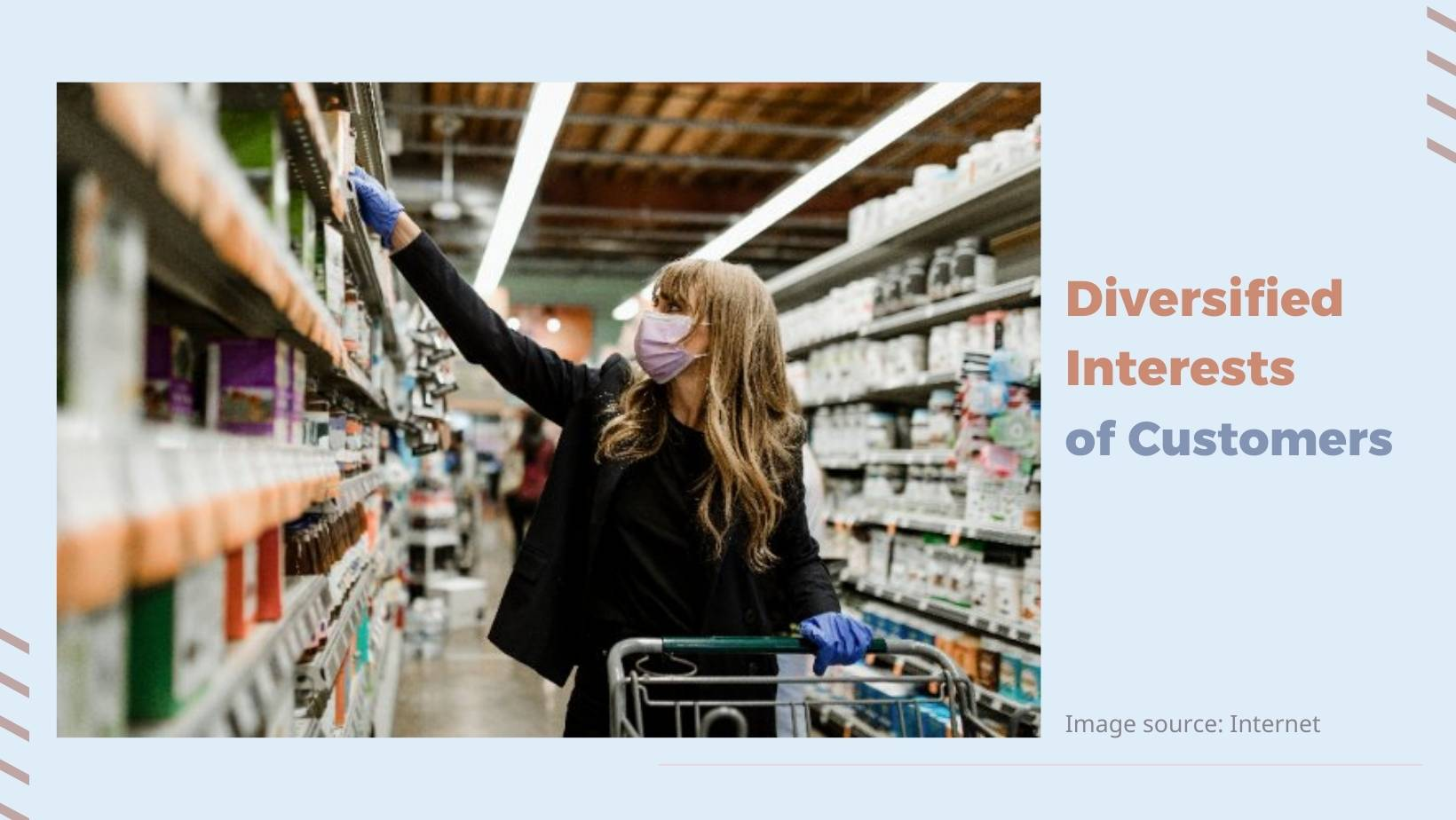 diversified interests of customers