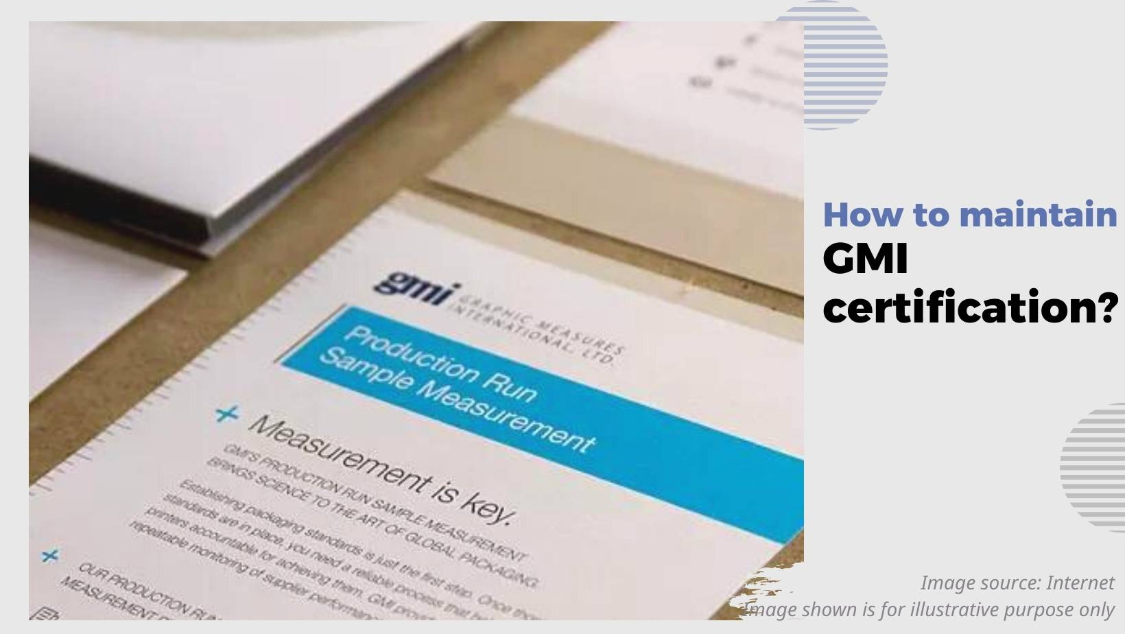 maintain certificate of Graphic Measures International