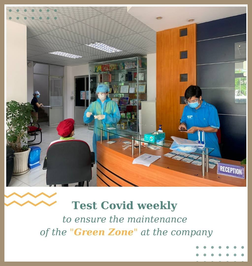 """covid test to ensure the maintenance of the """"Green Zone"""" at the company"""