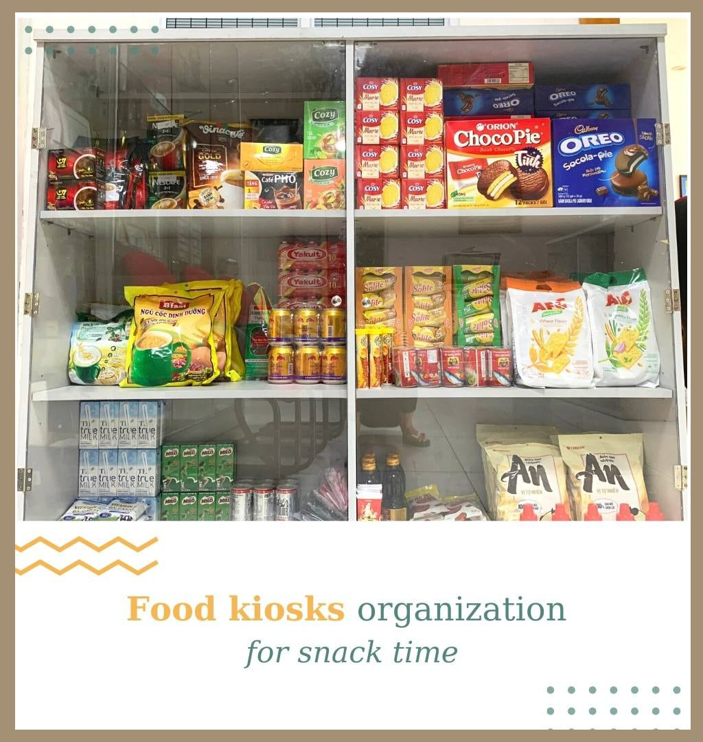 food kiosks organization for snack time